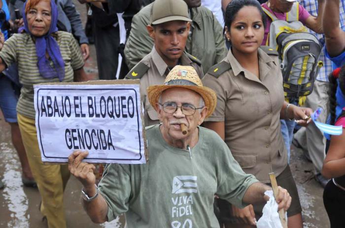 Realizan jornadas de denuncias contra el bloqueo de EE.UU. a Cuba