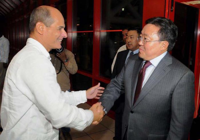 En La Habana presidente de Mongolia para avanzar en las relaciones bilaterales