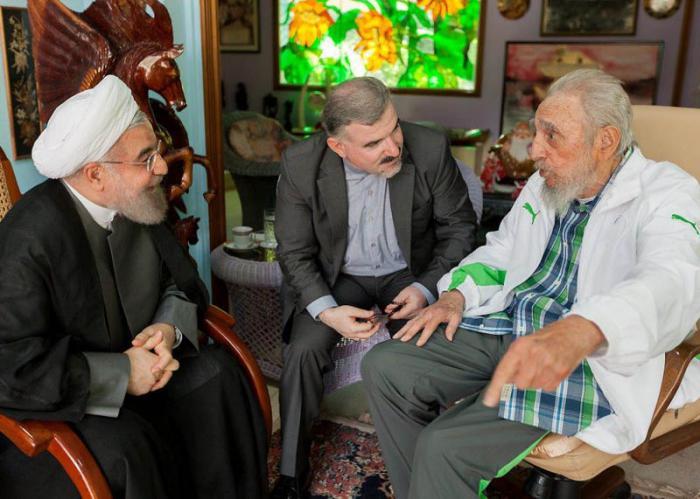 Fidel y Hassan Rouhani dialogan sobre situación internacional (+ Fotos)