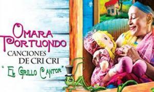 Portada de CriCri Canciones del Grillo Cantor, de Omara Portuondo.