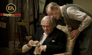 Fotograma de la cinta inglesa El vestidor, con Anthony Hopkins e Ian McKellen.