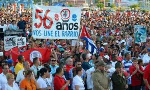 El acto estuvo matizado por el júbilo colectivo de miles de granmenses.  foto: Armando Ernesto Contreras Tamayo
