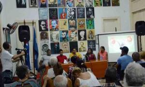 Encuentro en la UPEC del gremio con campeones olimpicos cubanos Mijain Lopez, Yumilka Ruiz, Robeisi Ramirez