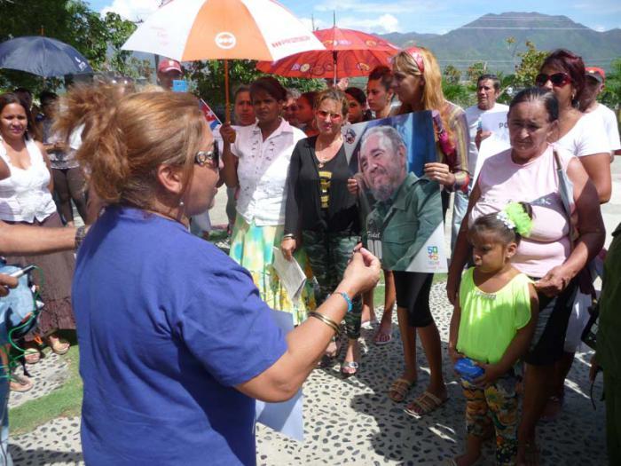 Mujeres cubanas protagonizaron jornada antibloqueo