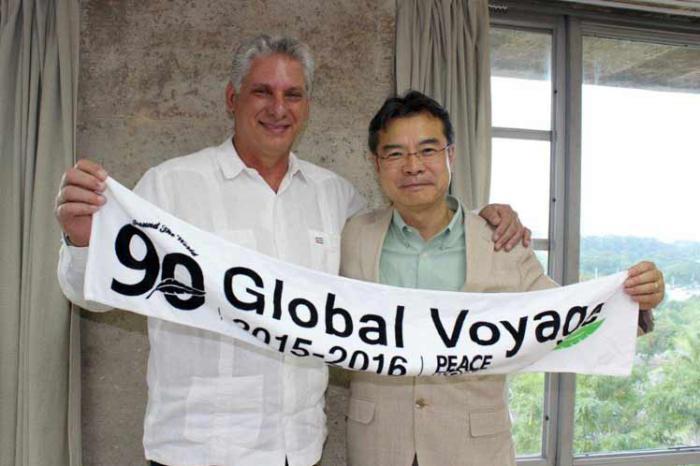 Se reúne primer vicepresidente cubano con pacifistas japoneses