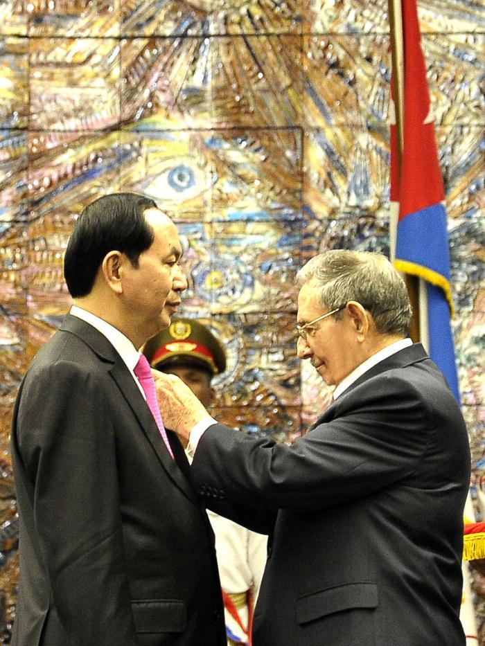 Recibió Raúl Castro al Presidente de la República Socialista de Vietnam