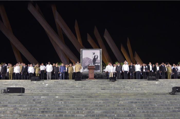 Acto de masas en homenaje póstumo al Comandante en Jefe Fidel Castro en la Plaza de la Revolución Mayor General Antonio Maceo de Santiago de Cuba.