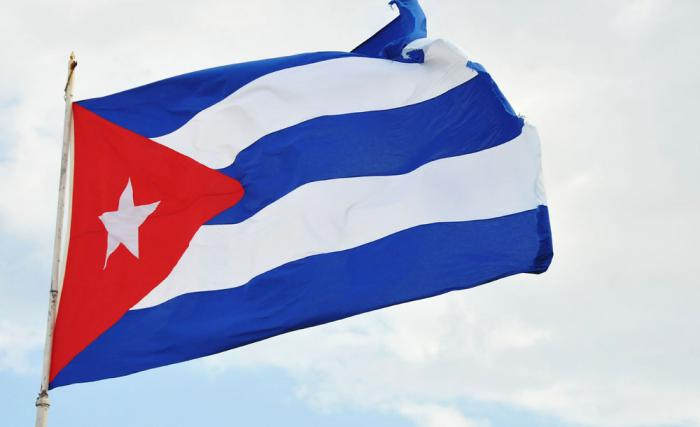 Bandera Cubana en el Monumento a Calixto García en Malecón y G Vedado.(foto Jorge Luis Gonzàlez) 21-12-15 Cuba11N9