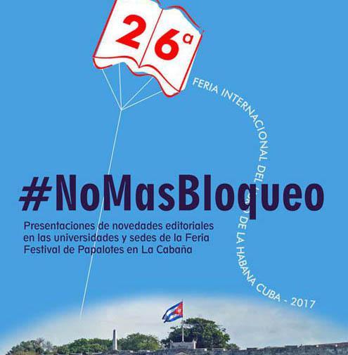 La Feria del Libro también dice No al bloqueo
