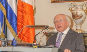 El Presidente de Irlanda, Michael D. Higgins, visita el Palacio del Segundo Cabo en el Casco Històrico de la Habana Vieja