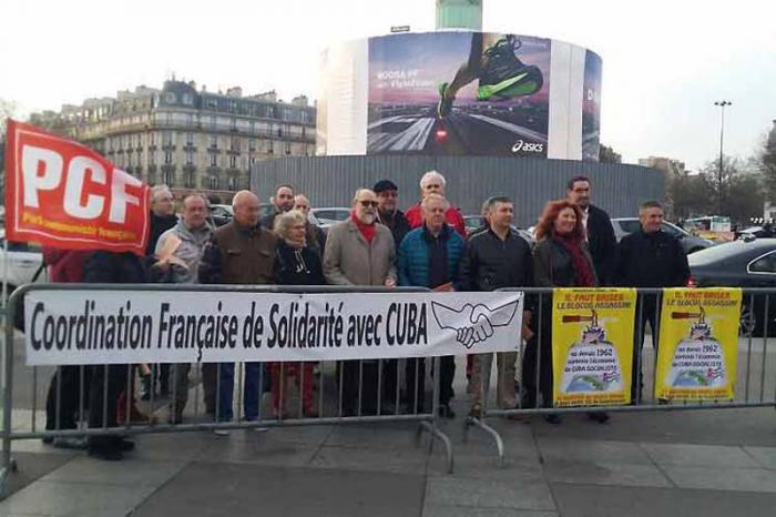 Franceses exigen fin inmediato de bloqueo de EE.UU. contra nuestro país