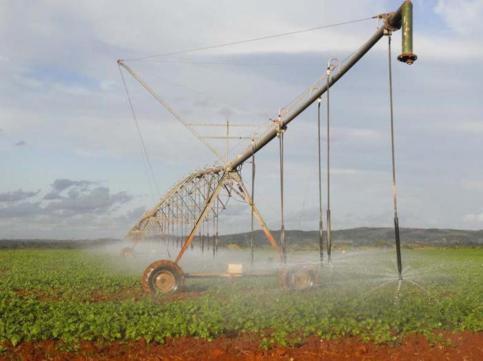 El uso eficiente del agua en la agricultura es uno de los aspectos priorizados por la política del país en torno  a este asunto.