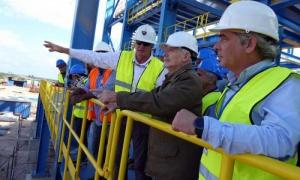 El Comandante de la Revolución Ramiro Valdés Menéndez, recorrió los distintos objetos de obra del proyecto minero-metalúrgico Castellanos.