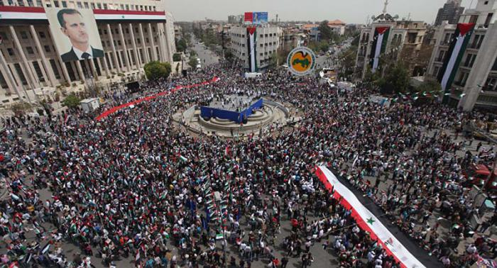 Marcha popular en damasco en protesta por agresi n - Fotos de damasco ...