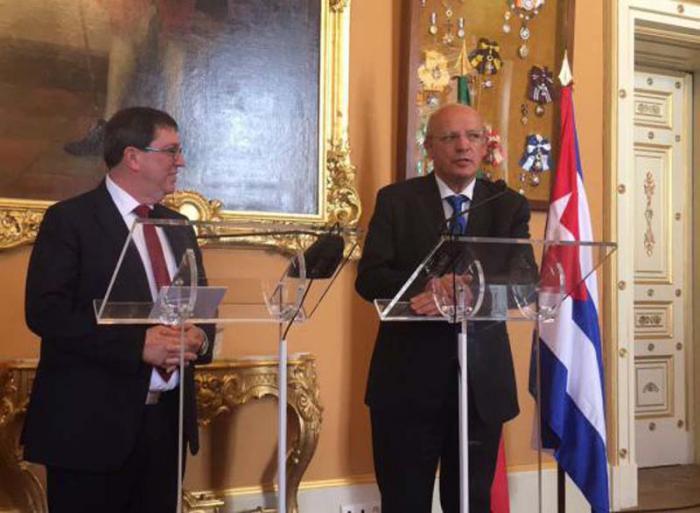 Canciller de Portugal recibe al Ministro de Relaciones Exteriores de Cuba