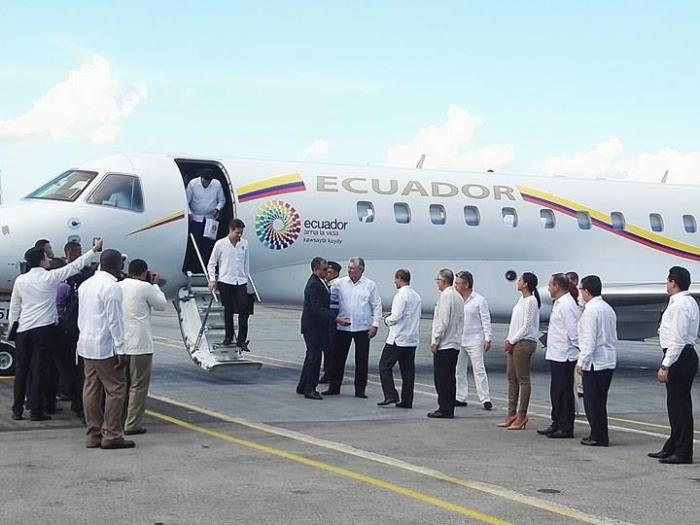 Presidente ecuatoriano arriba a La Habana