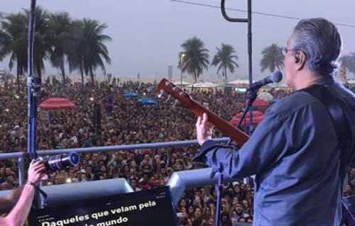 Concierto Río de Janeiro contra Temer. FOTO: Reuters
