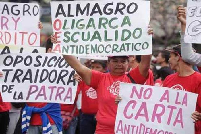 Resultado de imagen para Venezuela: repudio a OEA en calles de Caracas