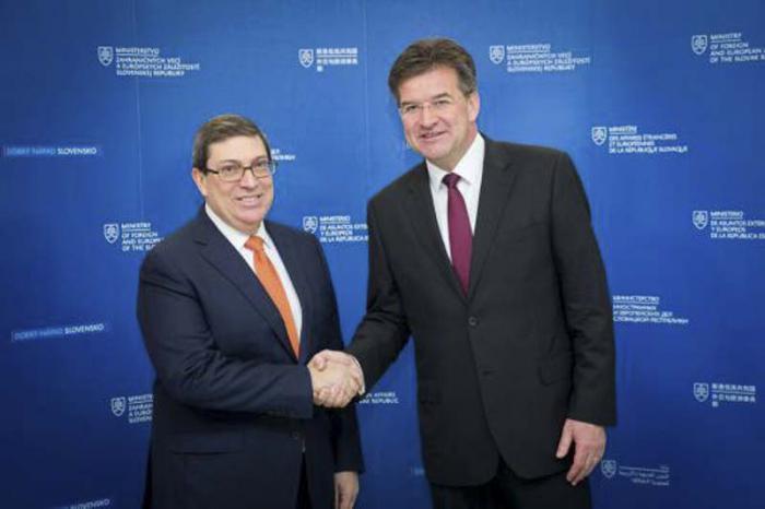 Desarrolla canciller cubano amplia visita de trabajo en Eslovaquia