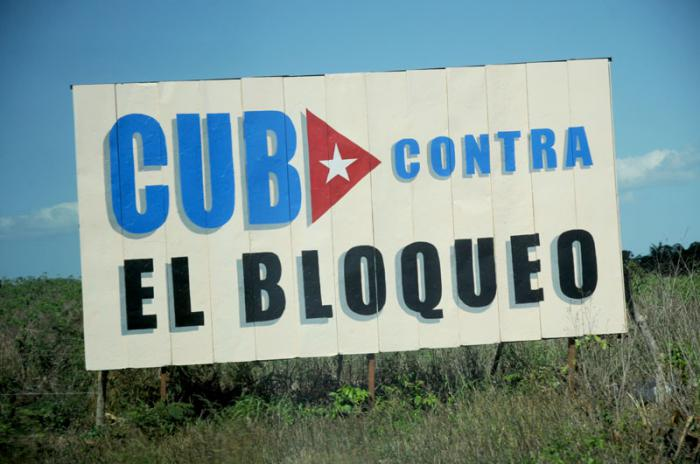 Cartel , CUBA CONTRA EL BLOQUEO