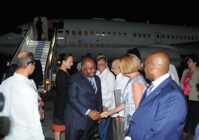 Presidente de la República Gabonesa realiza visita oficial a Cuba
