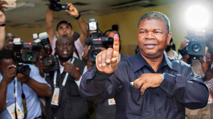 El presidente electo de Angola, Joao Lourenço, tras votar en las elecciones. Foto: EFE