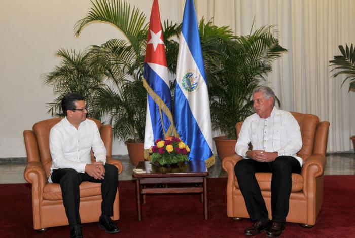 Recibió primer vicepresidente de Cuba a Canciller de El Salvador