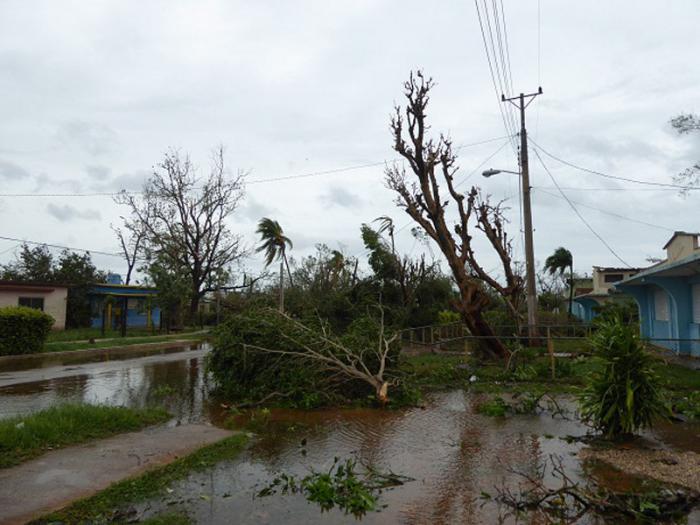 Primeras  imágenes del poblado de Bolivia, Ciego de Ávila, primero que sacudió Irma a su paso por la provincia.