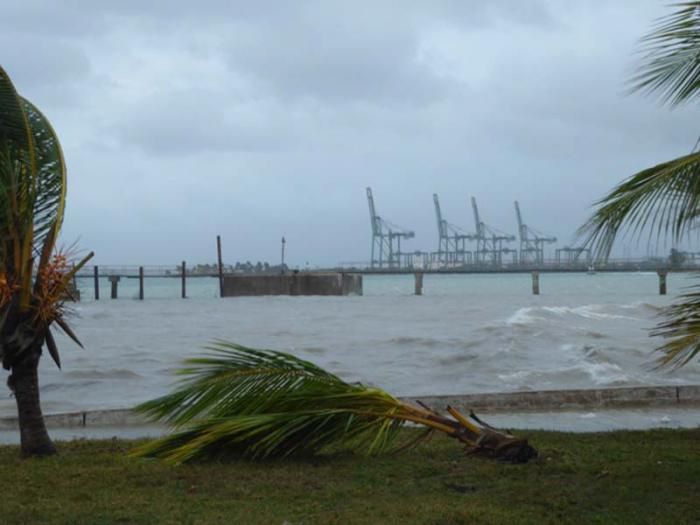 Playa la Boca y sus alrededores en el Mariel tras el huracán Irma..