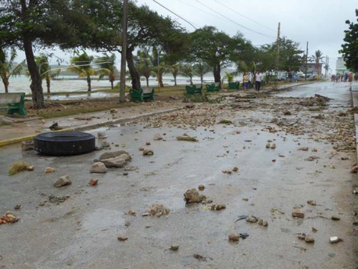 Playa la Boca y sus alrededores en el Mariel tras el huracán Irma.
