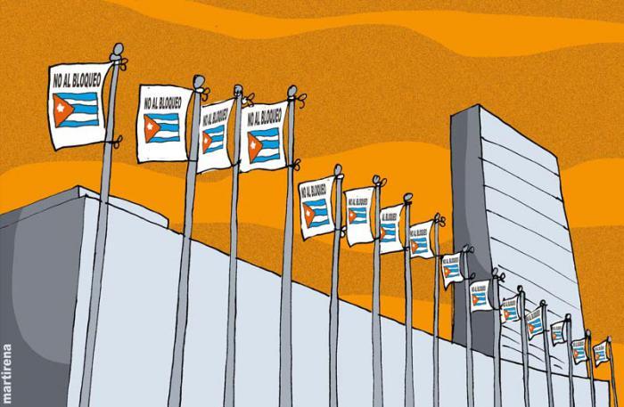 Exigen en la ONU fin del bloqueo a Cuba