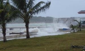 Playa de La Boca y sus alrededores en el Mariel tras el huracán Irma.