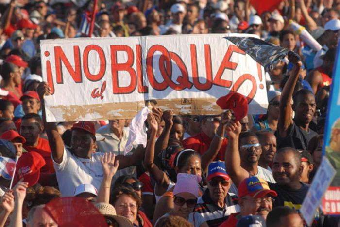 El pueblo cubano exige que se ponga fina al bloqueo económico, comercial y financiero de los Estados Unidos contra Cuba