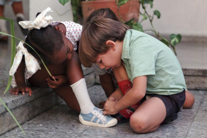 Niños en el círculo infantil Amiguitos de Polonia. Foto: Adalberto Ríos Szalay