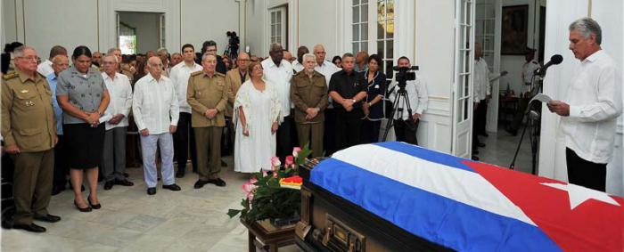 Asistió Raúl al sepelio del relevante intelectual cubano Armando Hart (+ Fotos)