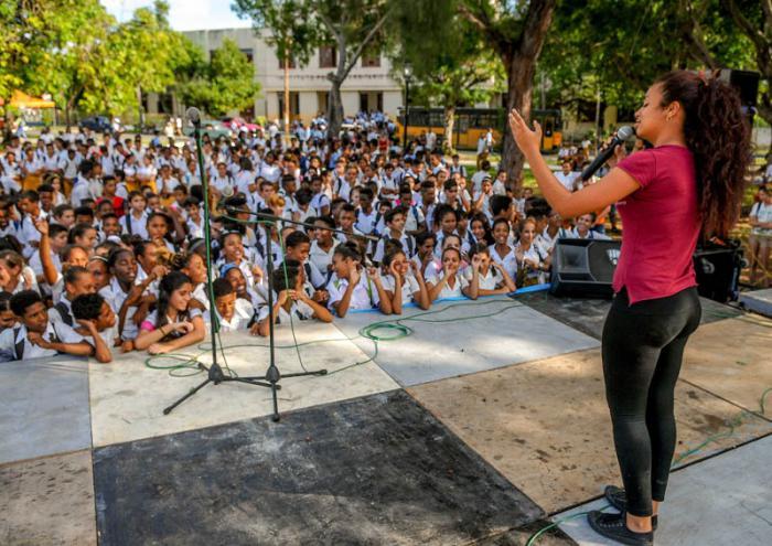Actividades polìtico culturales y recreativas desarrolladas en parques de la capital con motivo de la Jornda por los derechos humanos, Parque Mariana Grajales