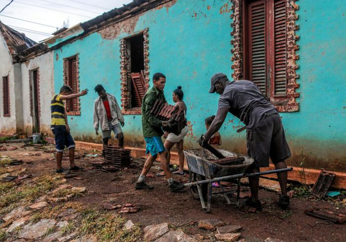 Recorrido por Municipios de la costa norte de la provincia de Camaguey tras el paso del huracàn Irma, Esmeralda, Batey Jaronù, Consejo popular Brasil