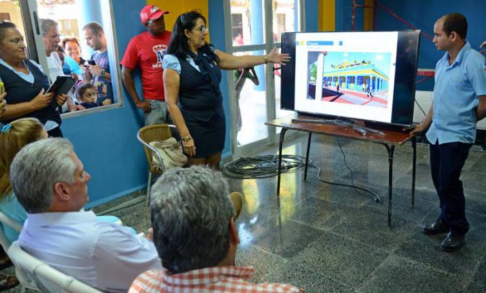 El Palacio de Computación, visitado por Díaz-Canel, concluye su etapa civil para comenzar el montaje de equipos.