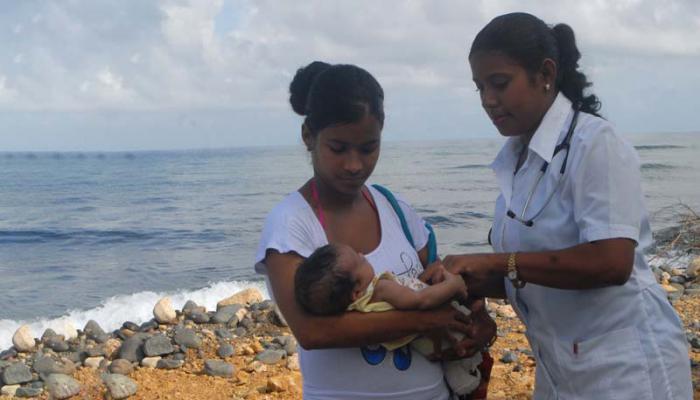 Atención médica en Baracoa.