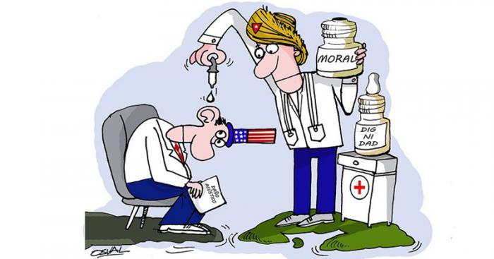 Caricatura sobre ataques acústicos.