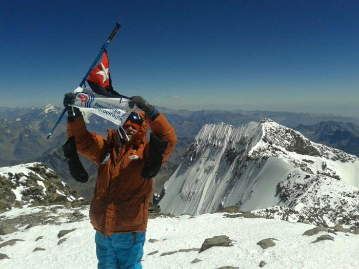 La cima del Aconcagua en honor a José Martí
