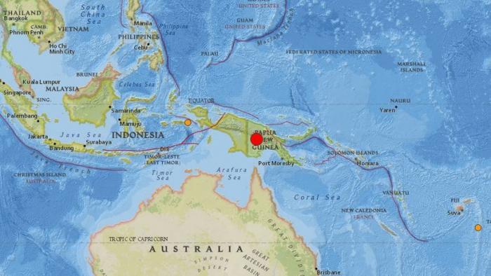 Sismo de 7,5 grados Richter sacude a Papúa-Nueva Guinea