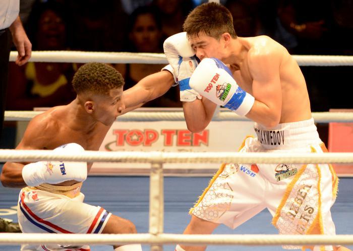 Boxeo-VI serie mudial de Boxeo-Cuba vs Uzbequistan 49 kg Johanys Argilagos vs Nodirjon Mirzakhmedov