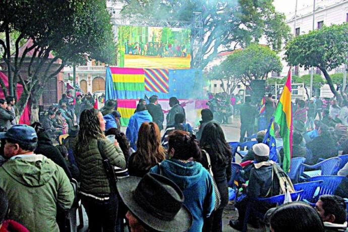 Los bolivianos protagonizaron manifestaciones de apoyo a esta causa. foto: Telesur