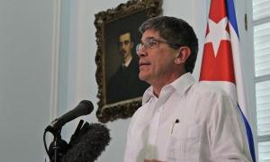 Declaraciones a la prensa del director general de Estados Unidos de la cancillería cubana, Carlos Fernández de Cossío