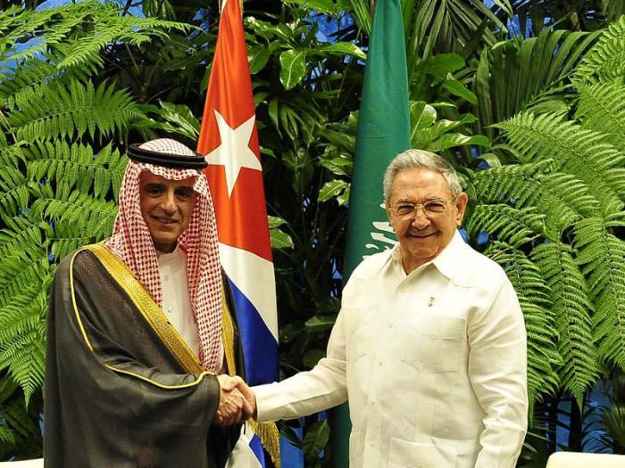 Presidente cubano Raúl Castro recibe a canciller saudita