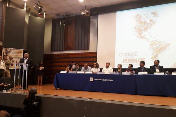 Destaca apoyo a Cuba, Venezuela y Lula en Cumbre popular en Lima
