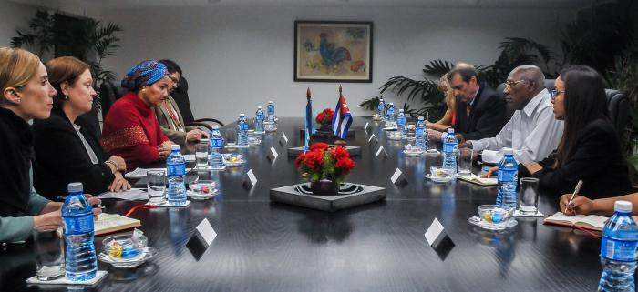 Se reúnen en Cuba Salvador Valdés Mesa y Vicesecretaria General de la ONU