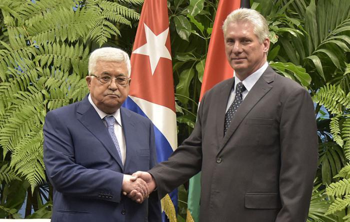 Díaz-Canel recibe al Presidente del Estado de Palestina