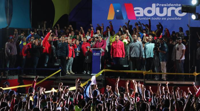 Nicolás Maduro se alzó con la victoria con el 67,78 % de los votos. foto: EFE